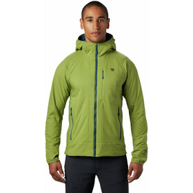 Mountain Hardwear Kor Cirrus Hybride Capuchon Jas Heren, just green